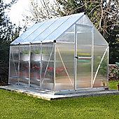 Palram Mythos 6' x 8' Greenhouse, Silver