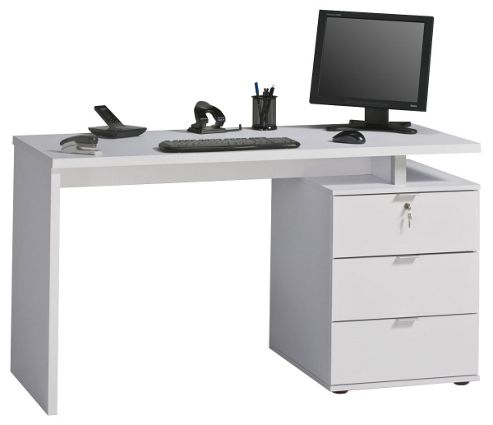 Buy maja victoria white computer desk from our office desks tables range tesco - Tesco office desk ...