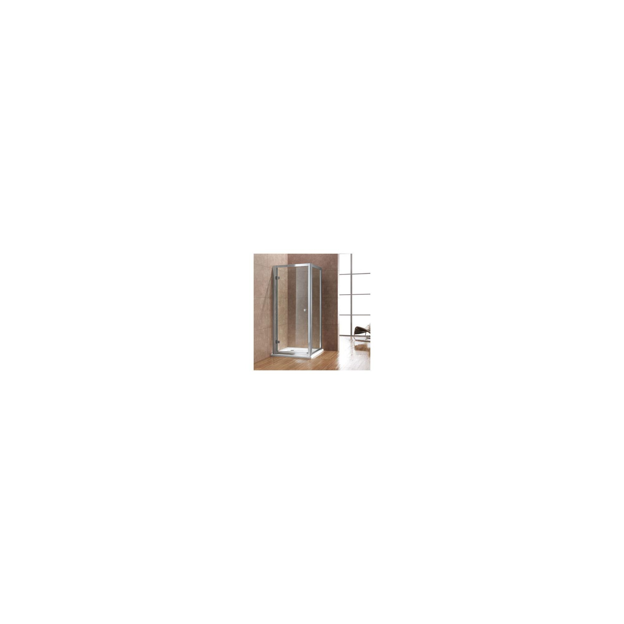 Duchy Premium Hinged Door Shower Enclosure, 1000mm x 760mm, 8mm Glass, Low Profile Tray at Tesco Direct