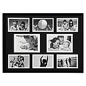 Photo Frame - with Eight Apertures - Black