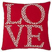 Flocked Love Cushion