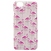 Tortoise™ Hard Protective Case,iPhone 6, Clear with Pink Flamingo Print.