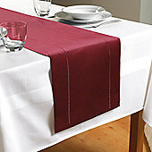 Country Club Hem Stitch Table Runner in Red
