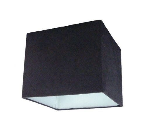 TP24 Baku Pendant Shade in Black Suede Effect