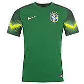2014-15 Brazil Home World Cup Goalkeeper Shirt (Green) - Green