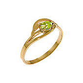 QP Jewellers 0.30ct Peridot Pear Strand Ring in 14K Rose Gold