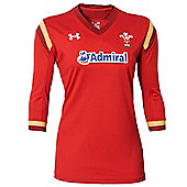 Under Armour Wales WRU Non RWC Womens Supporters Jersey 15/16 - Red