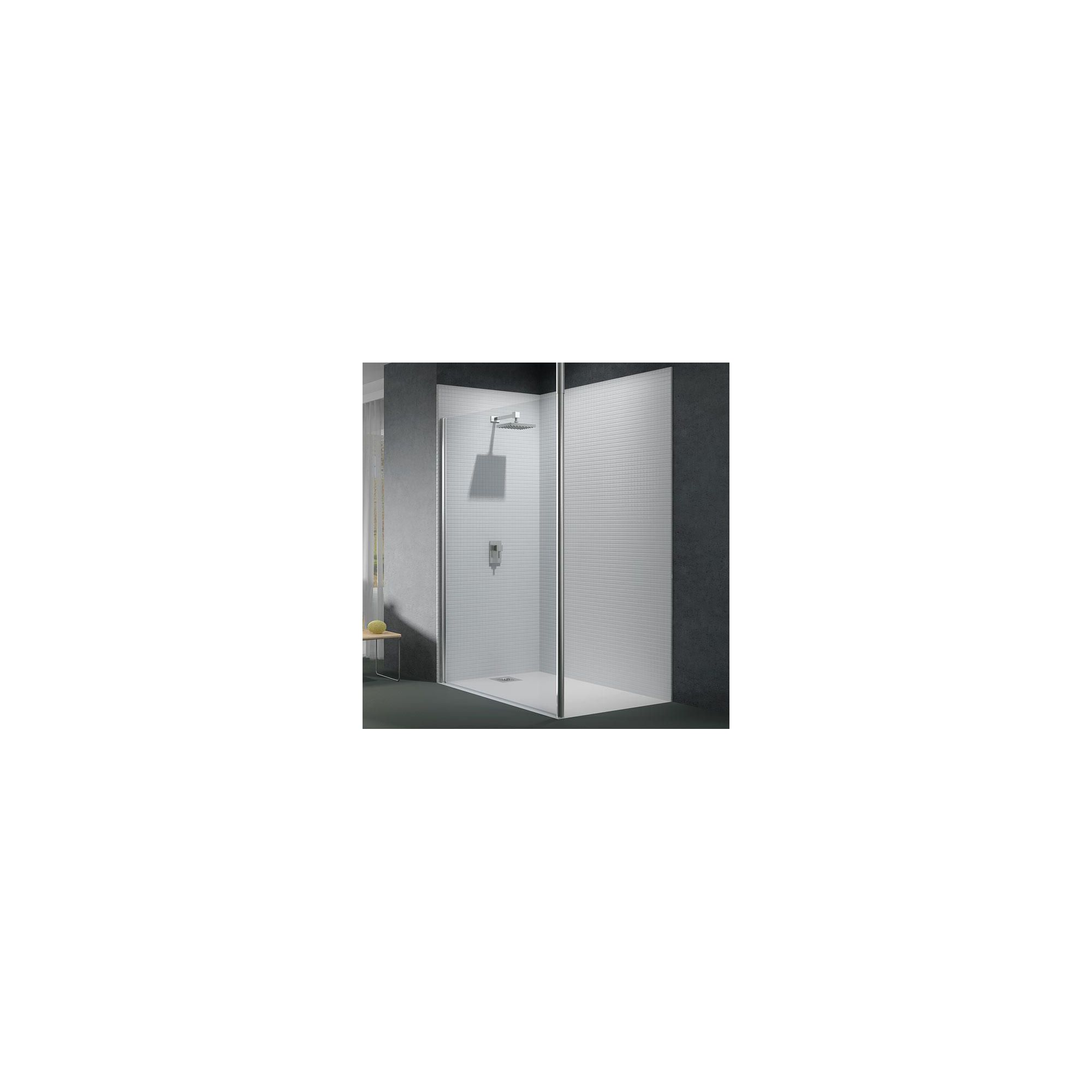 Merlyn Series 6 Wet Room Glass Shower Panel, 1200mm Wide, 6mm Glass, Vertical Support at Tesco Direct