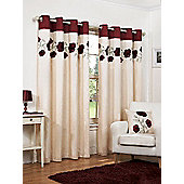Hamilton McBride Denby Lined Ring Top Red Curtains - 90x72 Inches (229x183cm)