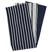 Pack of 3 Navy Stripe Tea Towels