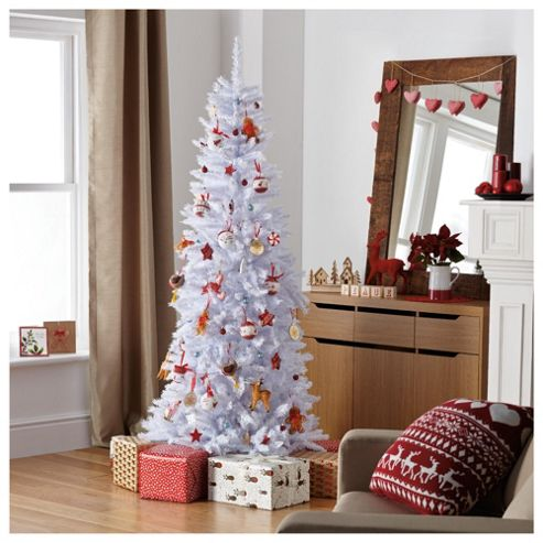 Festive 6.5ft Regency White Slim Fir Christmas Tree