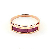 QP Jewellers 2.50ct Ruby Prestige Ring in 14K Rose Gold