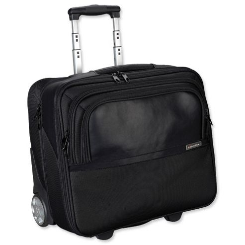 Lightpak Executive Trolley with Detachable Laptop Sleeve Nylon Capacity 17in Black [Ref 46101]