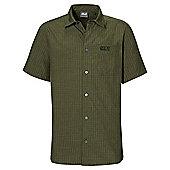 Jack Wolfskin Mens El Dorado Shirt Red Fire Dark Checks 3XL - Green