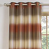 Julian Charles Soho Orange Luxury Jacquard Eyelet Curtain -112x137cm