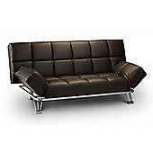 Manhattan Upholstered Faux Leather Sofabed in Brown