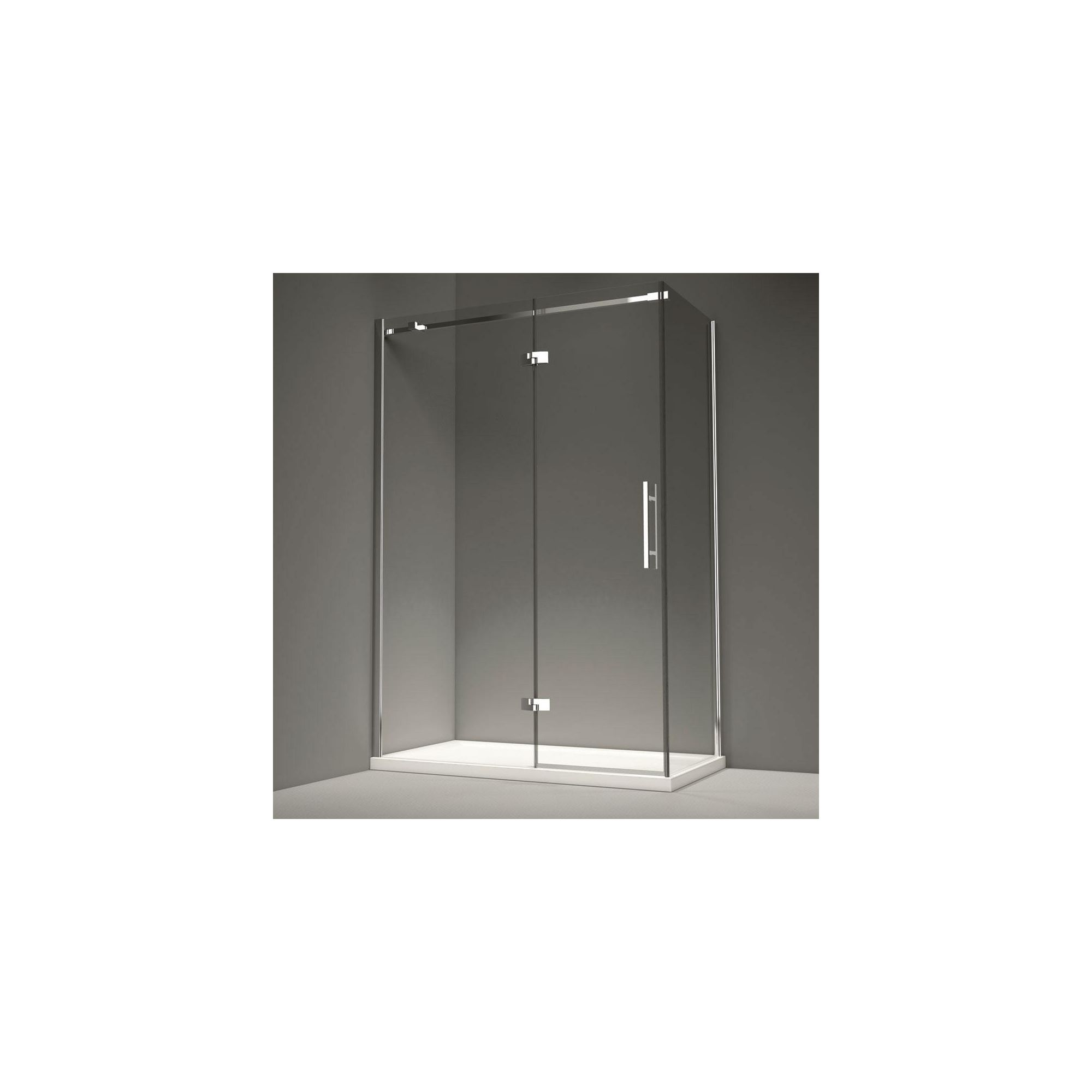 Merlyn Series 9 Inline Hinged Shower Door, 1600mm Wide, 8mm Glass, Left Handed at Tesco Direct