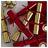 Red and Gold Dinner Party Christmas Crackers, 6 pack