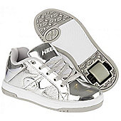 New Heelys Split Chrome Girls/Boys Roller Skating Shoe Choose Colour JNR 12-UK7 - Silver