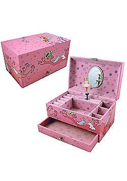 Girls Musical Jewellery Box, Pink - Girl Sitting In Tree
