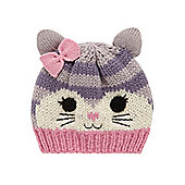 Mothercare Young Girls Cat Beanie Hat Size 3-6 months