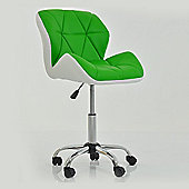 Peris Office Chair Green with White Under