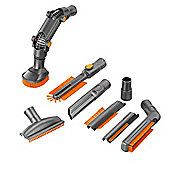 VonHaus 32mm or 35mm Universal Vacuum Cleaner Accessory Set - 8 Pc Crevice Upholstery Brush Tool Cleaning Kit