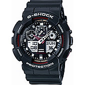 Casio G-Shock Mens Rubber Chronograph Watch GA-100-1A4ER