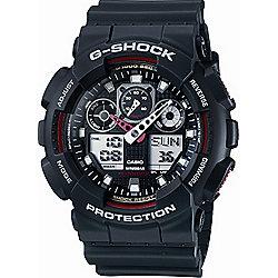 Casio G-Shock Mens Rubber Chronograph Watch GA-100-1A4ER