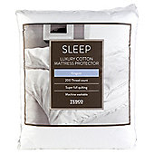 Tesco 100% Cotton 200 Thread Count Kingsize Mattress Protector