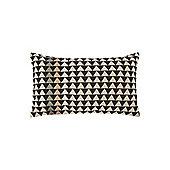 Linea Mono Mark Chevron Print Cushion