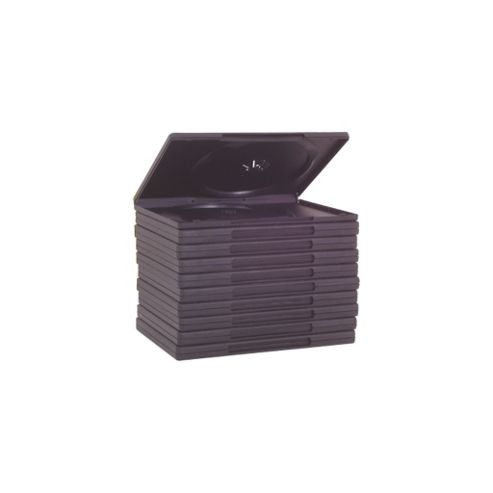 Replacement Double DVD Case Storage Box 10 Pack Black