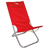 Yellowstone Lounger Folding Beach Chair, Red