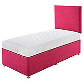 Relyon Kids Luxury Mattress Non Storage Divan With Headboard Pink