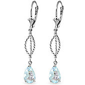 QP Jewellers 3.0ct Aquamarine Sceptre Earrings in 14K White Gold