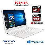 """Toshiba L50D-C-18J 15.6"""" Laptop AMD A10-8700P Quad Core 16GB RAM, 1TB HDD"""