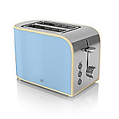 Swan 2 Slice Toaster - Blue