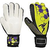 Precision Football Soccer Junior Matrix Flat Palm Odd Tech Gk Gloves - Yellow