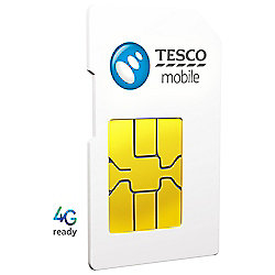 Tesco Mobile 4G Pay as you go SIM Pack