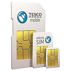 Tesco Mobile 4G Triple Credit Pay As You Go Sim Card