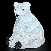 30cm Sitting Bear with 40 Static Ice White LEDs