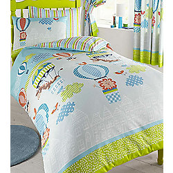 Jungle Balloons, Kids Single Bedding