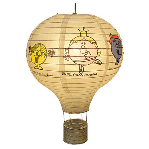 Loxton Lighting 35cm Little Miss Hot Air Balloon Paper Lantern