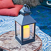 Charcoal Grey Battery Outdoor LED Candle Lantern