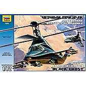 Zvezda - Russian Stealth Attack helicopter Black Ghost Kamov Ka-58 - Scale 1/72 7232