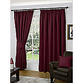 Winter Ready Made Curtains Pair, 66 x 90 Berry Colour, Modern Designer Look Pencil pleated curtains