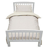 Baroo Cot Bed Duvet Cover & Pillowcase Set (Beige Gingham)