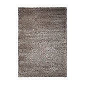 Esprit Freestyle Silver / Brown Shag Rug - 70cm x 140cm