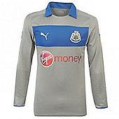 2012-13 Newcastle Home Goalkeeper Shirt (Grey) - Kids - Grey