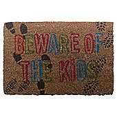 Beware of the Kids Coir Mat, 40 x 60cm